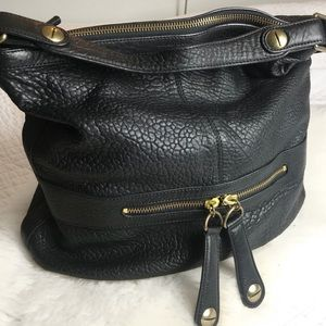 Gerard Darel Midnight Midday Hobo Purse Bag